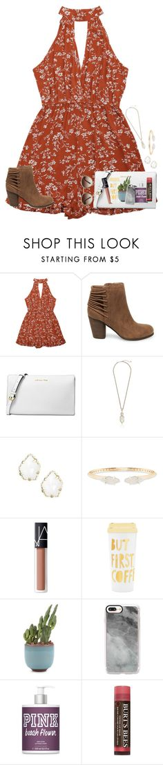 """""""~~"""" by taybug2147 ❤ liked on Polyvore featuring Steve Madden, Michael Kors, Kendra Scott, NARS Cosmetics, ban.do, Casetify, Burt's Bees and Ray-Ban"""