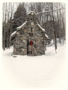 Chapel In The Woods Stowe Vermont Photograph  - Chapel In The Woods Stowe Vermont Fine Art Print