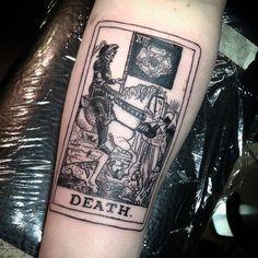 Scorpio and the tarot Tattoos 3d, Cover Up Tattoos, Love Tattoos, Beautiful Tattoos, Body Art Tattoos, Death Tattoo, I Tattoo, Tarot Card Tattoo, Occult Tattoo
