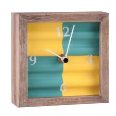 Home and Garden Corrugated Tabletop Clock