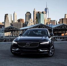 The Volvo luxury sedan has a best in class long wheelbase and low roofline that create a crisply sculpted, elegant exterior. Ford Mustang Wallpaper, City Backdrop, Amg Car, Volvo S90, Volvo Cars, Future Car, Car Wallpapers, Sport Cars, Motor Car