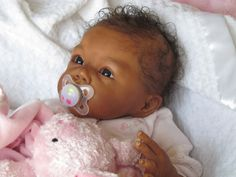 Reborn Baby Girl Romie Styrdom Lila Ethnic AA African American Indian Numbered on PopScreen Reborn Babies Black, Reborn Babies For Sale, African American Reborn Babies, Baby Dolls For Sale, Life Like Baby Dolls, Black Baby Dolls, Real Baby Dolls, Reborn Toddler Dolls, Realistic Baby Dolls