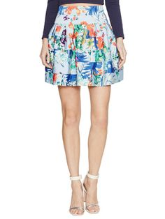 Printed A-line Mini Skirt from Summer Date-Night Style on Gilt