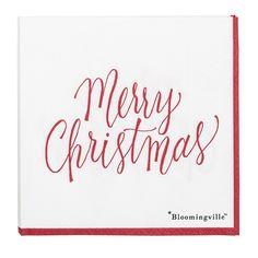 Servetele  cu mesaj Merry Christmas, perfecte pentru masa festiva de Craciun. Merry Christmas, La Red, Design, Decoration, Merry Little Christmas, Decor, Wish You Merry Christmas, Decorations, Dekoration