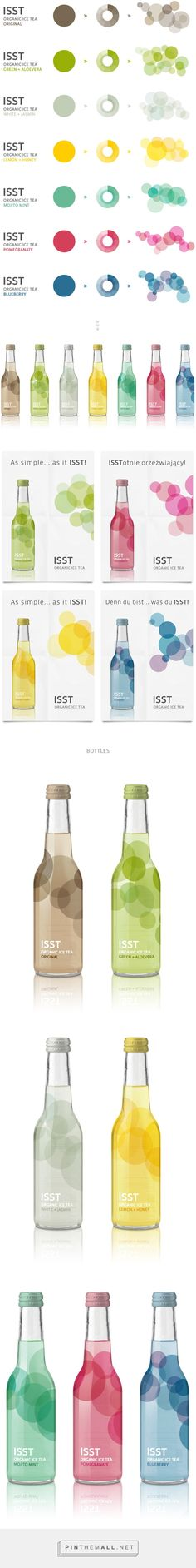 ISST - Organic Ice Tea on Behance curated by Packaging Diva PD. Packaging branding for a new line of organic beverages.