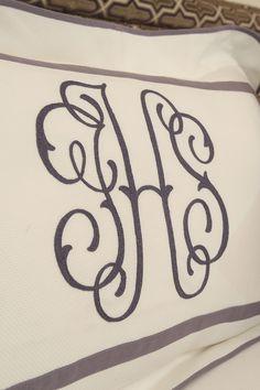 monograms via leontinelinens.com  Wow. My former monogram. Looks pretty.