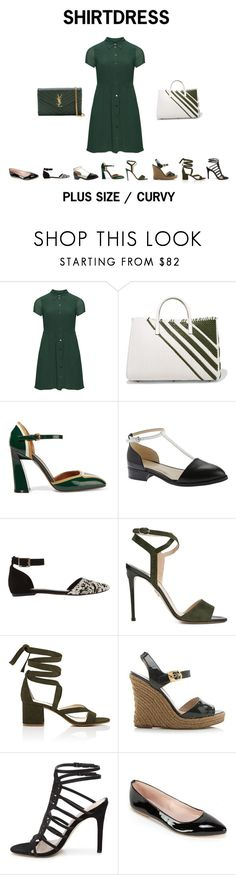 """""""SHIRTDRESS"""" by jessicasanderstx ❤ liked on Polyvore featuring Manon Baptiste, Anya Hindmarch, Marni, Nine West, Mint Velvet, Paul Andrew, Barneys New York, Fendi, Summit by White Mountain and Yves Saint Laurent"""