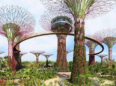 singapore futuristic park Singapore Garden, Singapore Travel, Places To Travel, Places To Go, Travel Destinations, Travel Trip, Marina City, Modern Skyscrapers, Futuristic Home