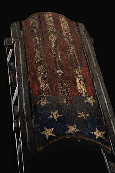 Sled Decorated with Stars and Stripes, late 19th century, unidentified artist, painted wood with metal runners, sleigh bell, and leather strap 9 x 49 x 17 in. (22.9 x 124.5 x 43.2 cm), Smithsonian American Art Museum, Gift of Herbert Waide Hemphill, Jr. and museum purchase made possible by Ralph Cross Johnson 1986.65.88