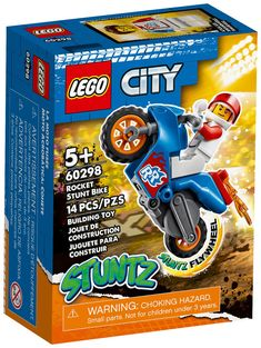 Stunt Bike, Lego City, Snack Recipes, Snacks, Frosted Flakes, Pop Tarts, Packaging, Box, Toys