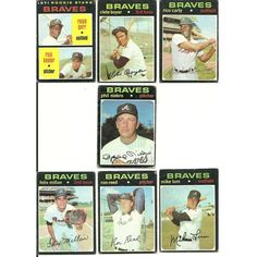 1971 VINTAGE Topps BRAVES Team 20 cards partial set lot HOF Niekro Garr Boyer Listing in the 1970-1979,Sets,MLB,Baseball,Sports Cards,Sport Memorabilia & Cards Category on eBid United States | 147698423
