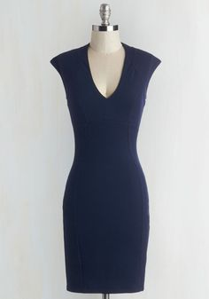 Raising Glasses Dress. Every toast you propose in this navy sheath dress is one to remember! #blue #modcloth