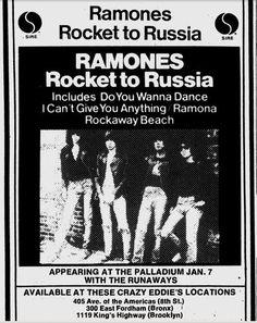 Ramones, The Runaways @ The Paladium, NYC, January 7th, 1977