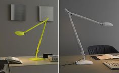 The Volee from Fontana Arte - Highlighter Green task lamp! On Sale for $275.00 with an original price of $452.00. This task lamp is brand new.   www.illuminc.com