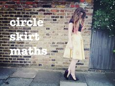 The mathematics for a full circle skirt, half circle skirt and quarter circle skirt.