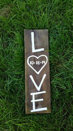 Rustic wedding sign Love Love Sign Nursery by whatsyoursigndesigns, $20.00