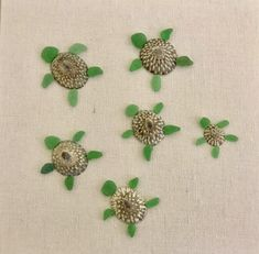 Sea glass and shell turtles picture