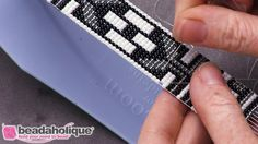 How to Repair a Dropped Bead in Loom Work - YouTube