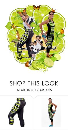 """""""Fun Fantasy Workout with a Twist of Lime"""" by wackyworkshop ❤ liked on Polyvore featuring women's clothing, women's fashion, women, female, woman, misses and juniors"""