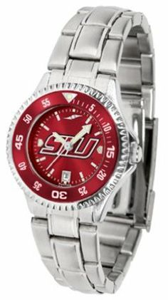 Southern Illinois Salukis Competitor AnoChrome Ladies Watch with Steel Band and Colored Bezel by SunTime. $91.67. Showcase the hottest design in watches today! The functional rotating bezel is color-coordinated to compliment the Southern Illinois Salukis logo. The Competitor Steel utilizes an attractive and secure stainless steel band.The AnoChrome dial option increases the visual impact of any watch with a stunning radial reflection similar to that of the underside of a...