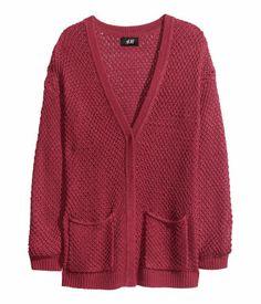Texture-Knit Cardigan