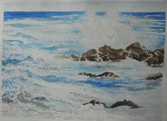 Seascape, loved painting this!