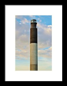Oak Island Framed Print featuring the photograph Oak Island Lighthouse by Cynthia Guinn