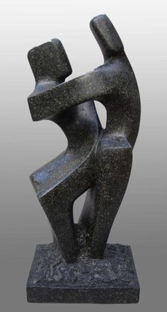 A dance sculpture 'Dancing Cheek to Cheek' in soapstone by JOhn Brown at www.johnbrown-sculptor.co.uk