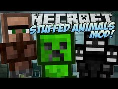 Minecraft | STUFFED ANIMALS MOD (Lucky Presents & Trayaurus Plushies!) | Mod Showcase - YouTube