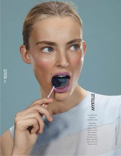 gloss lollipops: ymre stiekema by emilio tini for elle france 9th may 2014