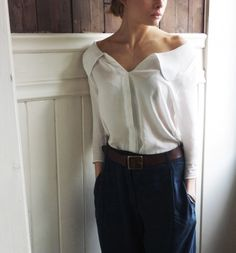 Lovely white shirt. --via Vanessa Correa