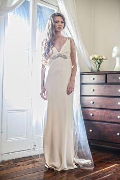 Jennifer Go Bridal - Clio gown, heavy liquid silk satin