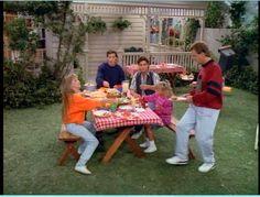 Tanner backyard on Full House final season