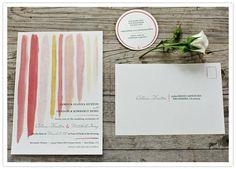 Paint style wedding invites.