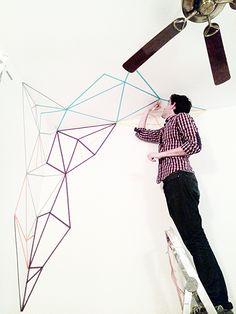 @antoniolh  #whashitape #washitape #maskingtape #masking #tape #decoration #wall #geometric #celo #colores