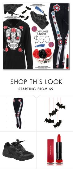 """""""Halloween Costumes Under $50"""" by paculi ❤ liked on Polyvore featuring Meri Meri, Max Factor, Eyeko, Design Element and halloweencostumes"""