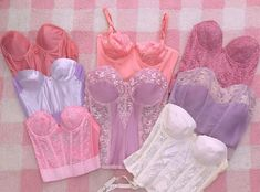 pictame webstagram 💓 some of the bustiers coming to the shop today & tomorrow 💓 all hand dyed except the pretty bridal corset 💓 Pretty Outfits, Beautiful Outfits, Cool Outfits, Fashion Outfits, Moda Aesthetic, Aesthetic Clothes, Corsets, Oki Doki, Bridal Corset