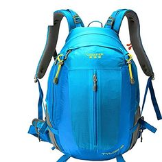 ALUSFashion sports backpack  mountaineering bag  outdoors travel backpack  knapsack suspension breathable  water repellentblue 50L ** To view further for this article, visit the image link. #BackpacksandBags
