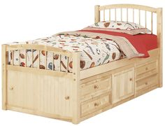 Furniture Basics twin captains bed