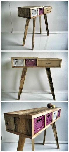 #Crates, #Desk, #Drawer, #RecycledPallet