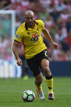 Nordin Amrabat of Watford in action during the Premier League match between…
