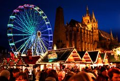 I took this in #Erfurt, #East #Germany at their Christmas Market. You have the cathedral in the background, rides and booths selling food and handicrafts. These are the most fun you will have in Europe.