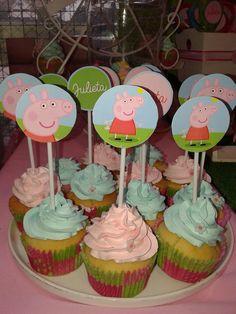 Cupcakes de Peppa Pig