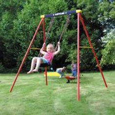 Deluxe Single Swing Set