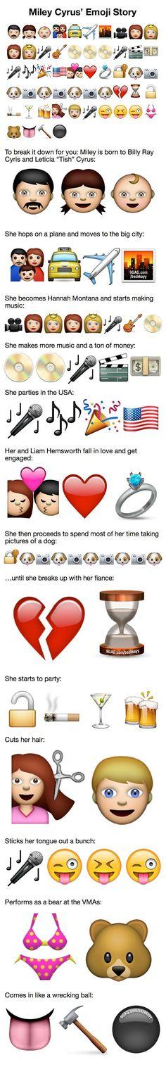 Miley Cyrus' Emoji Story!!! So true: