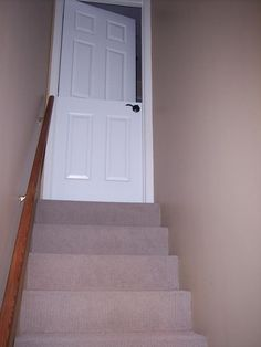 Make a Dutch door at the top of the stairs at the cabin.