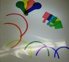 rainbows for light box
