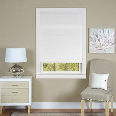 Cordless Honeycomb Cellular Pleated Shade (White 36x64), Size 36 x 64 (Polyester)
