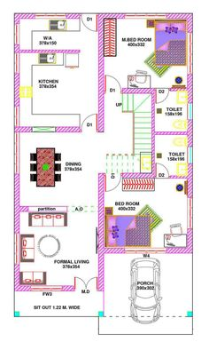 2bhk House Plan, Model House Plan, Dream House Plans, Kerala House Design, Small House Design, 30x50 House Plans, Best Home Plans, Indian House Plans, House Plans With Photos