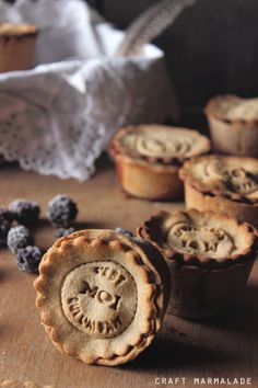Buckwheat mini pies with blakberry jam, gluten free, just 5 ingredients!